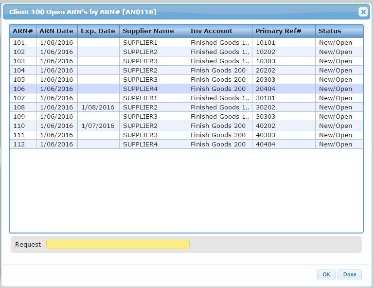 Dashboard drill down details - Warehouse Management Software